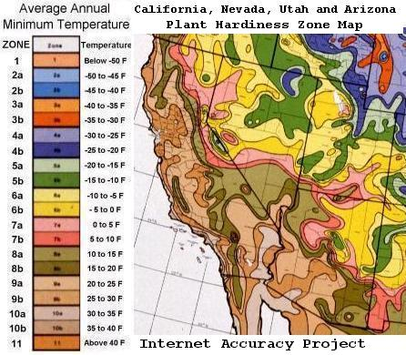 Southwest Plant Hardiness Zone Map