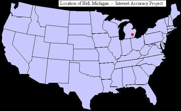 Hell Michigan Internet Accuracy Project - Michigan on us map
